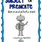 Subjects and Predicates game pack - Swimming into Second