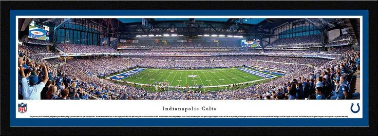 Indianapolis Colts Panoramic - Lucas Oil Stadium Picture Framed
