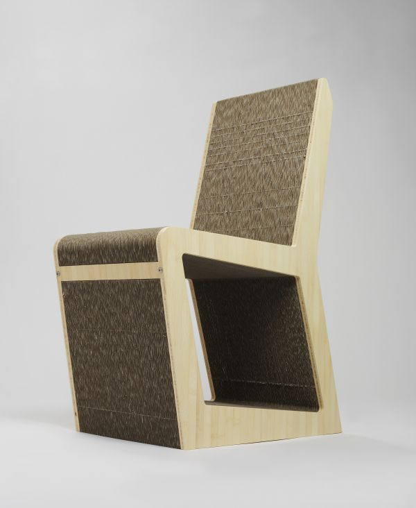 cardboard furniture design. groove cardboard and bamboo chair by tane design furniture