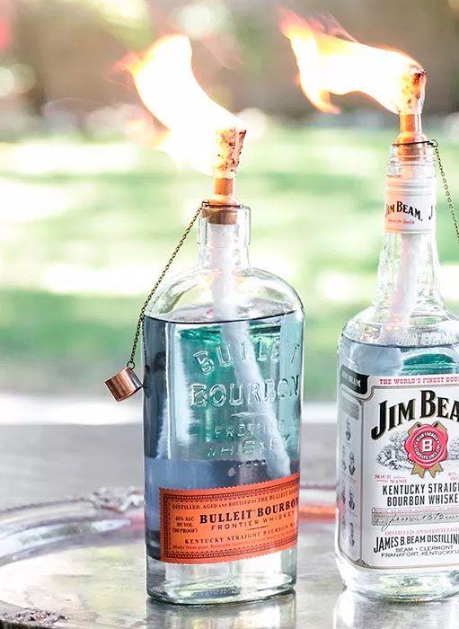 Garrafas de vidro com novos usos