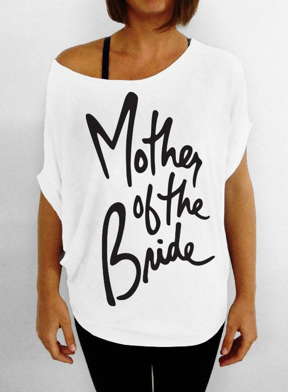 Mother of the Bride   Off the Shoulder Slouchy Tee  by WifeyChic, $29.00