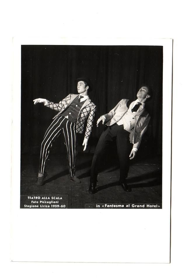 Teatro alla Scala-1958- Fantasmi al Grand Hotel-Coreografia Leonida Massine -Vittorio Biagi e Amedeo Amodio
