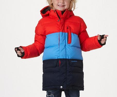 Dunjacka för barn med vattenavvisande utsida. Mer om jackan - http://www.stadium.se/klader/barnklader-86-116/jackor/136799/everest-k-cl-long-jkt-f12