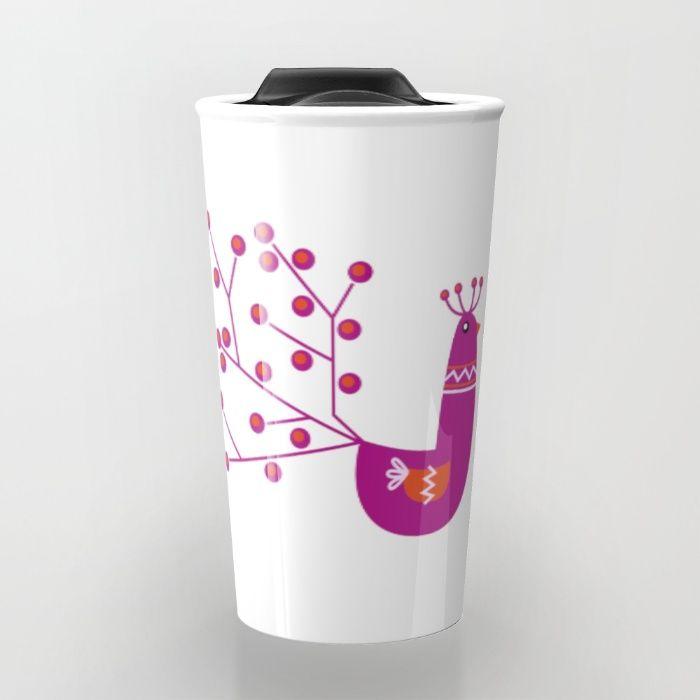 """Nádherná kolekcia """"INSPIRED BY SLOVAKIA"""". Krásny nadčasový ružový Páv. Jednoduchá a nadčasová edícia produktov, ktoré potešia každé oko. Dizajnérka: Mgr. Jana Guothova  #slovenskáklasika #obchodík #produktový #dizajn #ilustrácia #ružová #páv #slovensko #poháriky #cestovný #pohár #personalizovaný #hipster #folk #produkt #bratislava #dizajnový #šop #obchodík #janaguothova"""