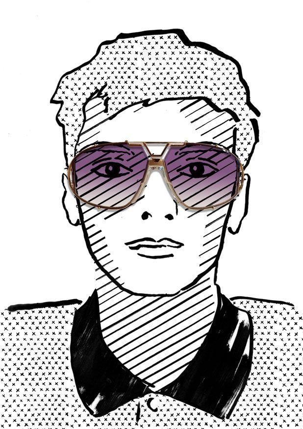 Cazal 907, illustration by Julia Kaiser. #eyewearportraitproject #faces #portrait #drawing #illustration #fashion #eyewear #glasses #shades #frames #vintage #shadow #blackandwhite #fashionillustration #studiojuliakaiser #cazal