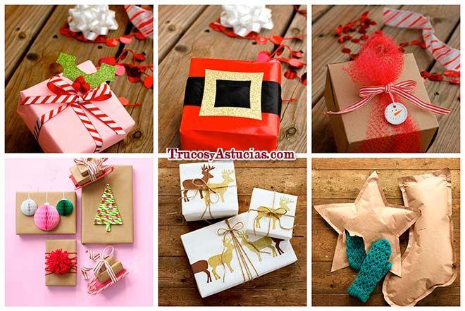 C mo envolver regalos de navidad 18 ideas con - Ideas para envolver regalos navidenos ...