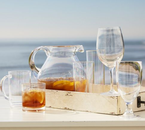 This is too awesome! - PB Classic Outdoor Drinkware, Set of 6 | Pottery Barn $39.50
