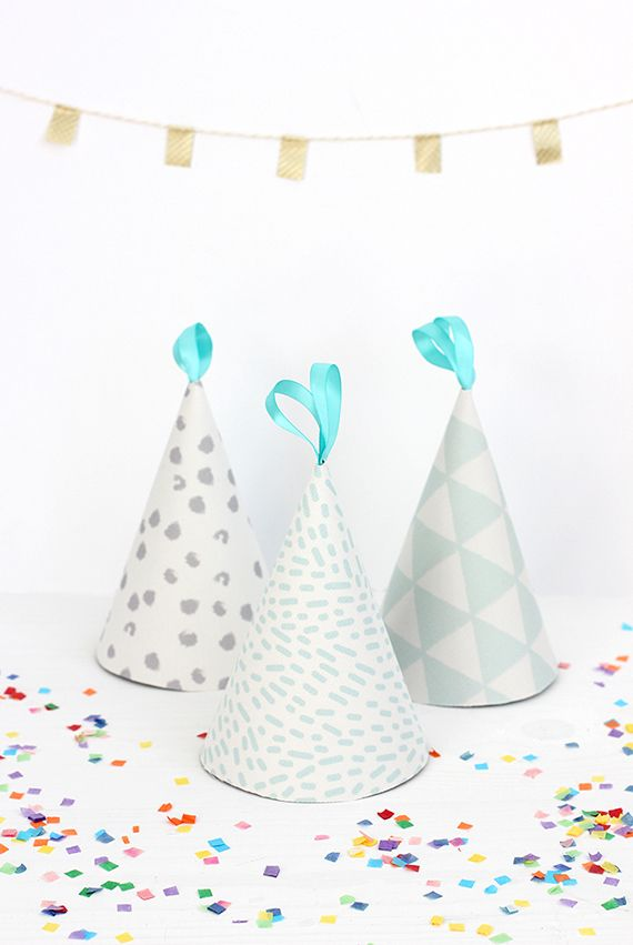 DIY: Fabric-Covered Party Hats