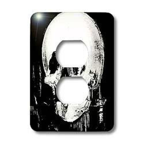 3dRose LLC lsp_18238_6 Halloween Optical Illusion 2 Plug Outlet Cover  Halloween Optical Illusion #Light Switch Cover is made of durable scratch resistant metal that will not fade, chip or peel. Featuring a high gloss finish, along with matching screws makes this cover the perfect finishing touch. Features : Dimensions (in inches): 3.5 H x 5 W *Made of strong, durable scratch-resistant metal *Includes matching screws *High gloss finish *Easy to clean