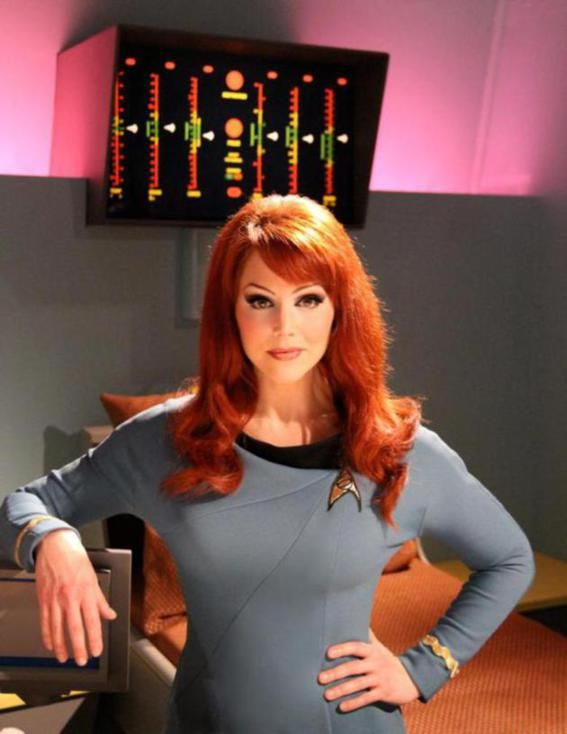 Michele Specht who plays Dr Elise MacKennah on the new web series Star Trek Continues
