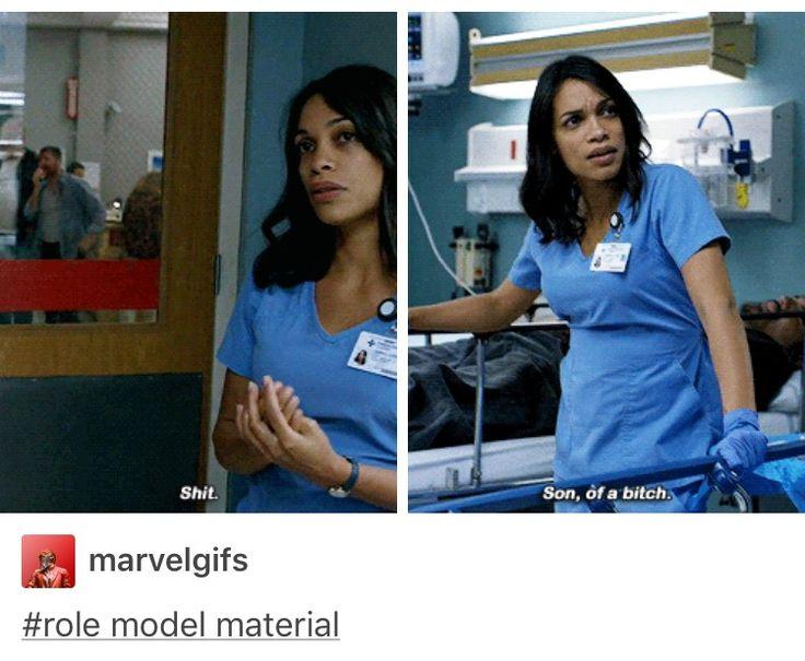 Rosario Dawson as Claire Temple/Night Nurse (Appears in Marvel's DareDevil, Jessica Jones, and Luke Cage on Netflix).