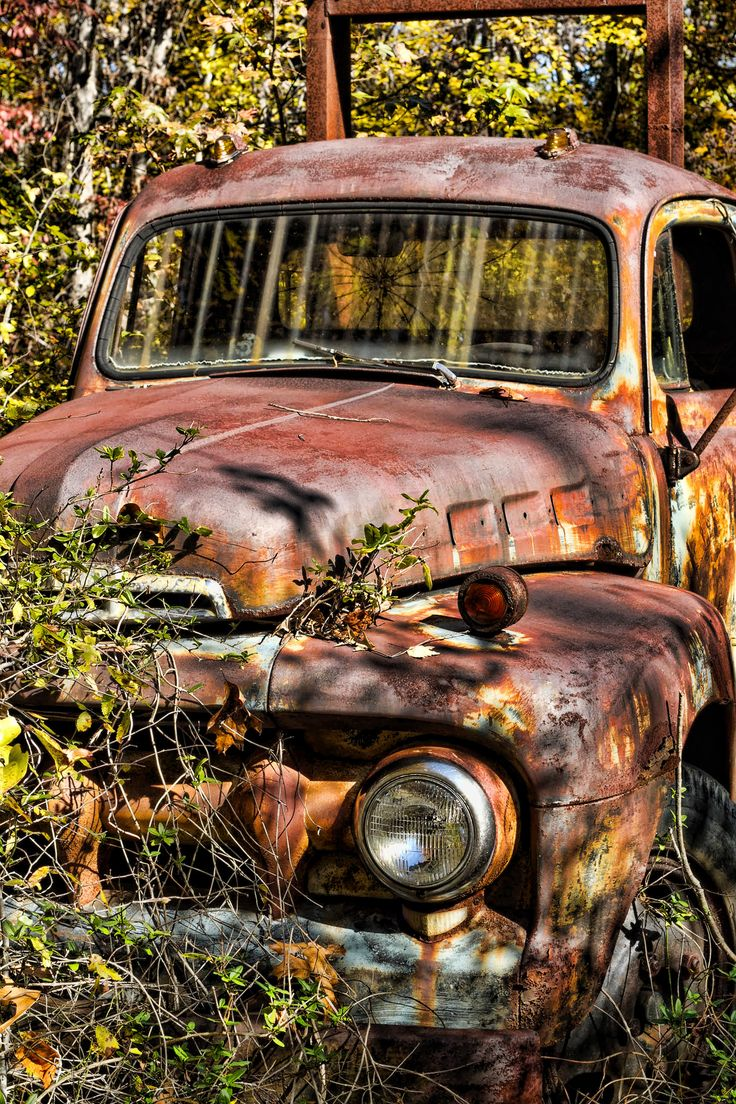 rusty old truck ...