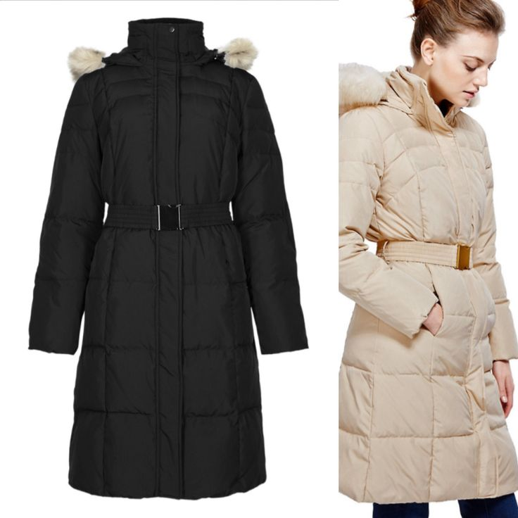 TO BUY: M&S Collection - Down Filled Hooded Belted Coat with Stormwear £99