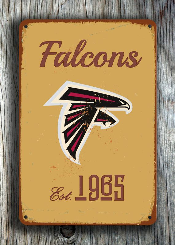Vintage style ATLANTA FALCONS Sign Atlanta Falcons by FanZoneSigns