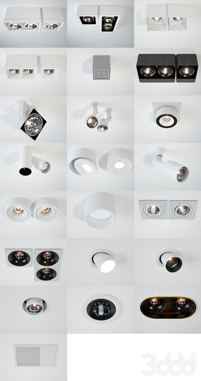 3d модели: Встроенные светильники - DeltaLight