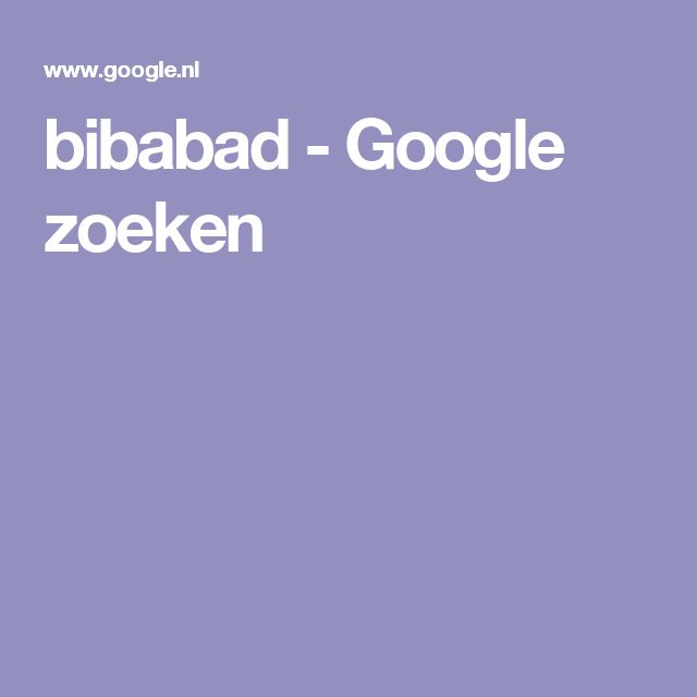 bibabad - Google zoeken