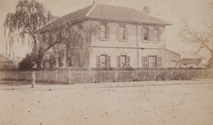 This two-storey brick house was been identified as Goulburn House, built on the north-east corner of Bourke and Clifford Streets, Goulburn, probably in the 1850s, by local landowner and pastoralist James Marsden. By 1890 it had become a boarding house. It was demolished in the mid-1960s.