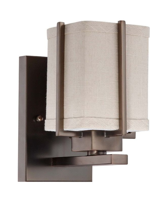 nuvo lighting logan collection one light energy star efficient fluorescent gu24 wall sconce - Nuvo Lighting
