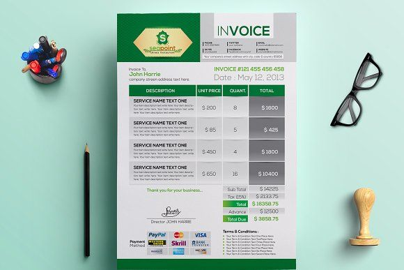 Creative Invoice Invoice Template Photography Invoice Invoice Design Template