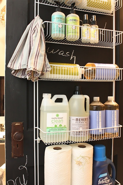 Take it one step further and do this for bathroom closet. Shampoo, conditioner, lotion, etc.