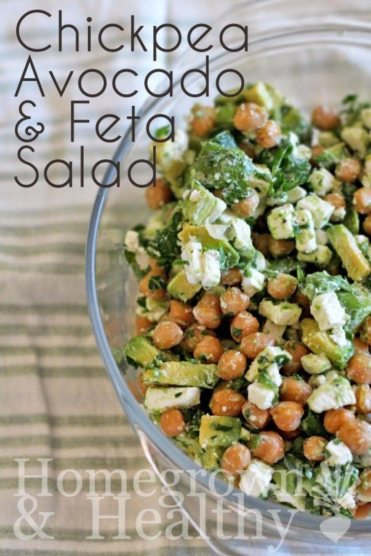Chickpea avocado and feta salad - Use cilantro instead of parsley! Better with lime.