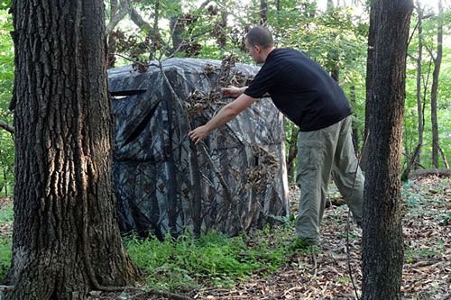 There are a lot of great reasons to use a ground blind for bowhunting whitetails. Here you will learn the basics of bowhunting deer from the ground.
