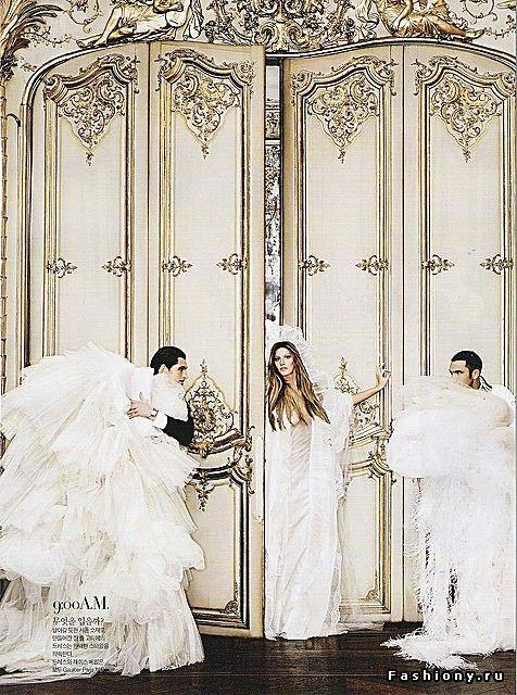 Свадебные фотосессии в журналах – часть четвертая / свадебные платья гипюровое фото