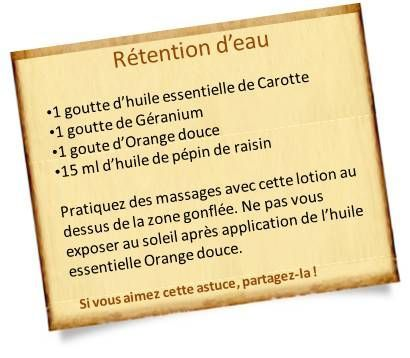 he orange douce rétention eau