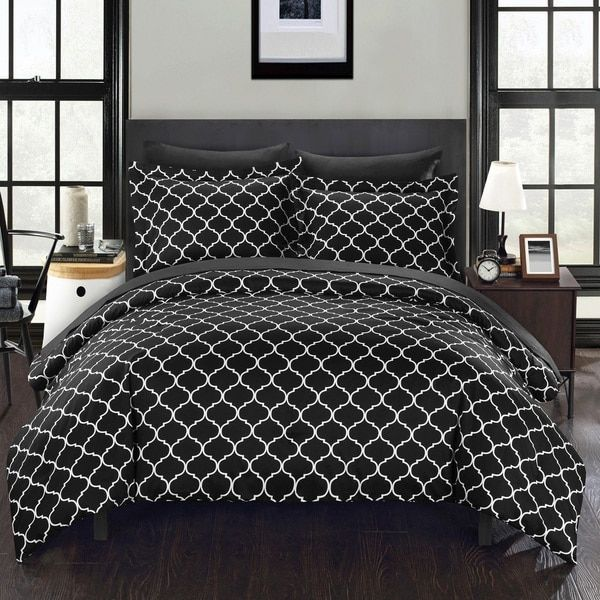 Chic Home Maitland Bib Black Comforter 7 Piece Set