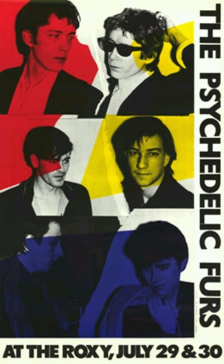 The Psychedelic Furs. Concert promo poster.