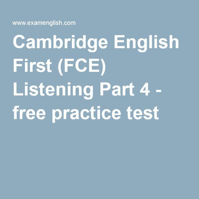 Cambridge English First (FCE) Listening Part 4 - free practice test