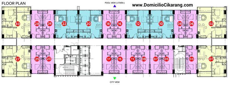 Floor Plan Tower Pertama Domicilio Cikarang apartment