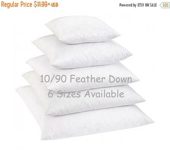 HUGE SALE 10/90 Down Pillows, 20x20 Down Pillows, Feather Down Pillow Insert, Pillow Inserts, 20x20 Inserts