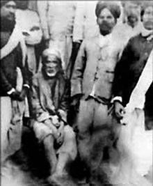 This is a rare and original photograph taken when  devotes and followers along with Shirdi Sai Baba.
