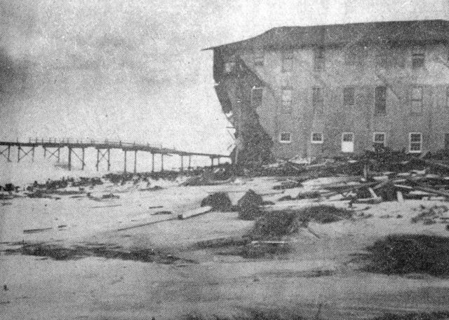 Damage at the Breakers Hotel at Wilmington Beach after Hurricane Hazel twisted and splintered it as it came through North Carolina. / Credit: contributed