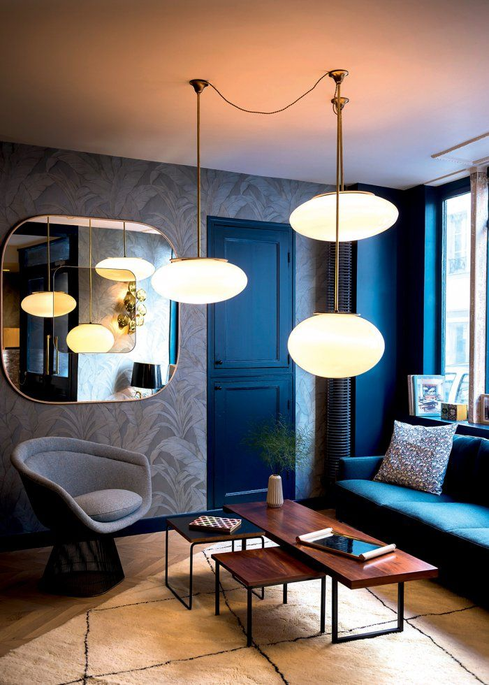 stylish parisian hotel | Visit www.contemporarylighting.eu for more inspiring images and decor inspirations