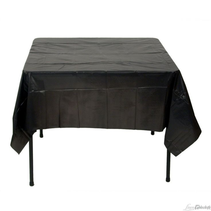Square Disposable Plastic Tablecloth Black For Only $1.35 At  Linentablecloth.com Perfect