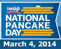 IHOP National Pancake Day - March 4, 2014 - Children's Miracle Network Hospitals