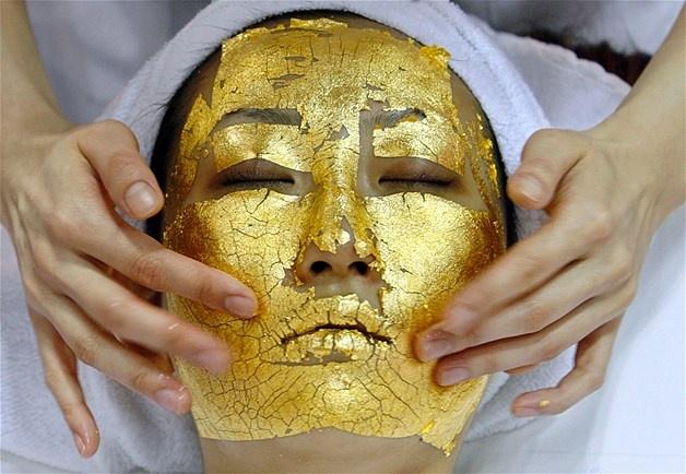 24k Gold FacialGoldleaf, Gold Leaf, Facials Treatments, The Face, Gold Facials, 24 Carat, Beautiful, Spa Treatments, Face Masks