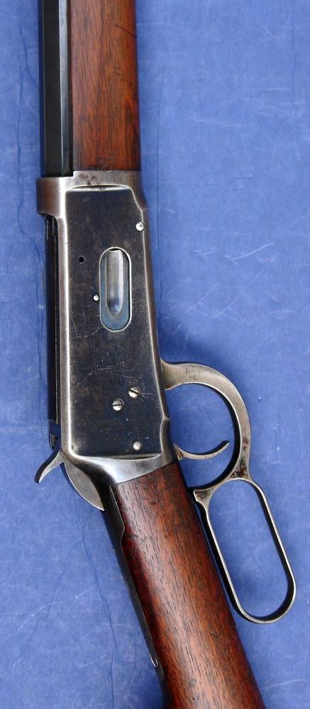 """1894 Winchester rifle was known as """"the gun that won the west.""""  It's lever action used the same cartridges as the popular 1873 Peacemaker .45 colt single action Army revolver, but the marketing was the key to the success of the Winchester...also a favorite of the Texas Rangers."""