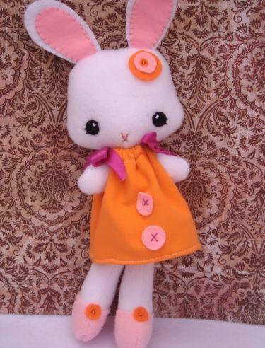 Penelope the cute handmade bunny with a modern twist $23  #bunny #handmade #cute #gift