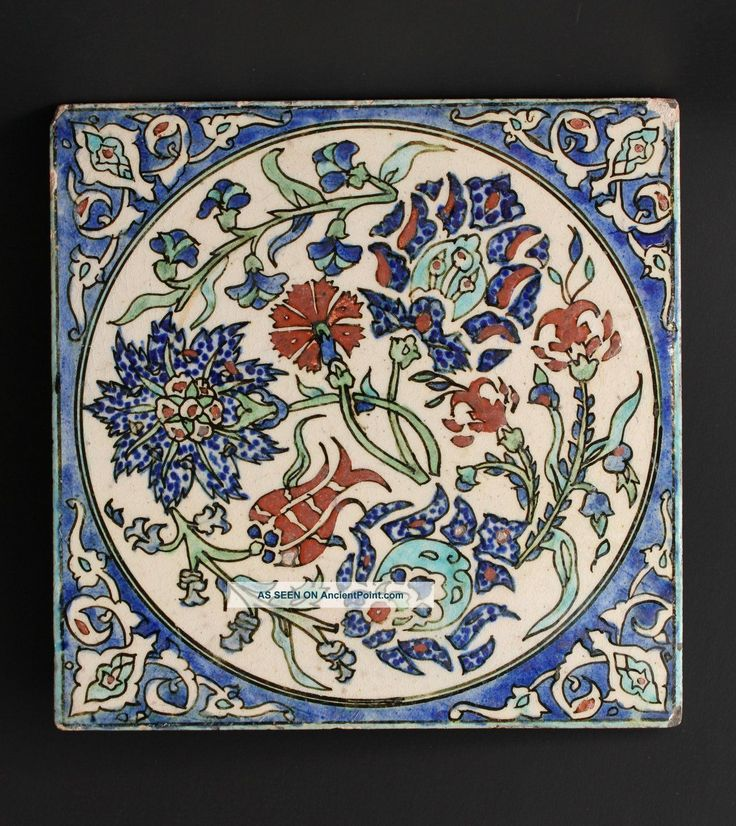 kutahya Pottery Tile, Ottoman Turkey