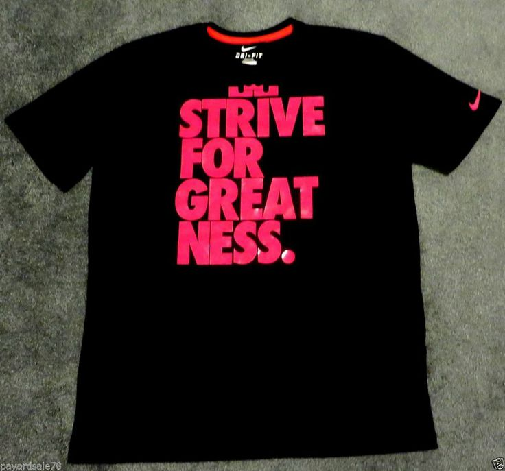 MEN'S 2XL NIKE DRI-FIT KING LEBRON JAMES STRIVE FOR GREATNESS T-SHIRT HOT PINK