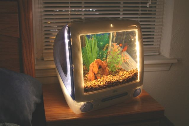 Macquarium - Have an old Mac computer laying about? How about turning it into an aquarium!