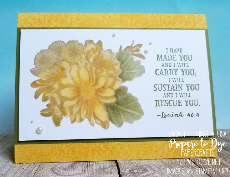 Stampin' Up! Heartfelt Blooms -   free with $50 order during Sale-A-Bration, Hold On To Hope,Touches of Texture with Stampin' Blends - handmade thinking of you or sympathy card with Bible verse - Sarah Fleming - Prepare to Dye Papercrafts