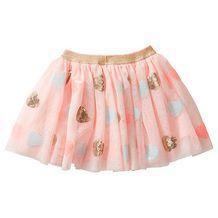Sequin Heart Multi Layer Tulle Skirt