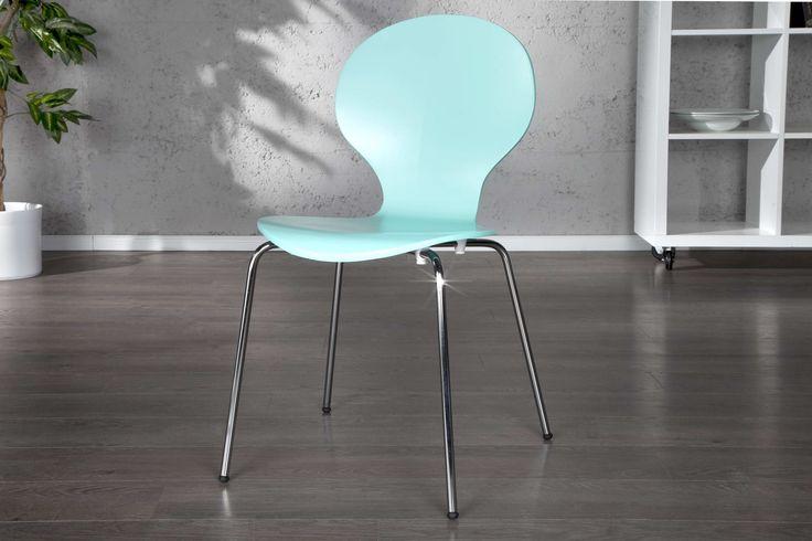 Jedálenské stoličky - moderné : Stolička Frame tyrkysová