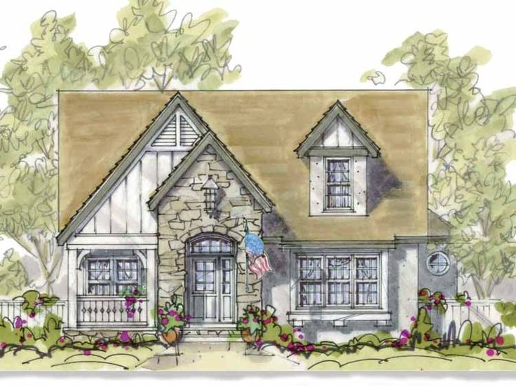 french country style 2 story 4 bedroomss house plan with 2173 total square