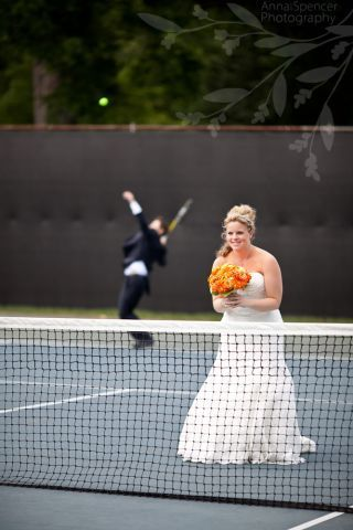 game set and match the newlyweds - tennis wedding
