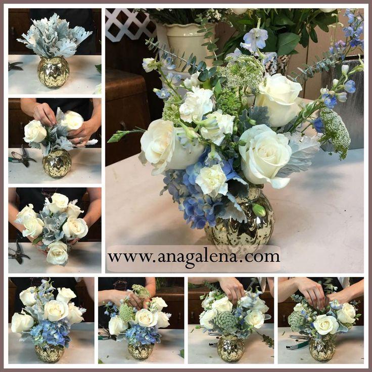 Paso por paso como hacer un centro de mesa para bautizo - Hacer un centro de flores ...